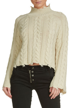 Natural Sweater W/ Bell Sleeves