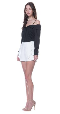 Fula Scallop Front Shorts