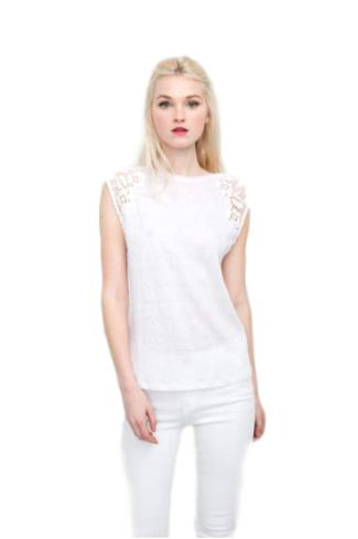Marnie Lace Top - White