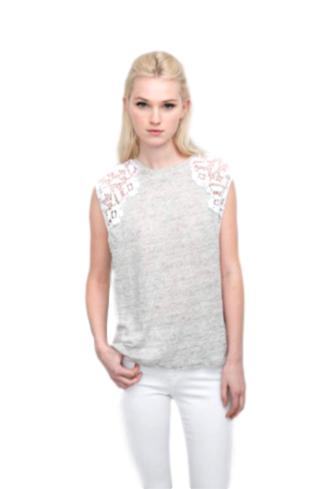 Marnie Lace Top - Grey