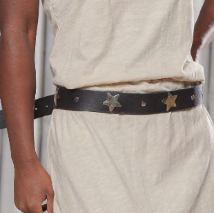 Little Stars Leather Belt