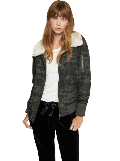 You Are Perfect Camo Bomber