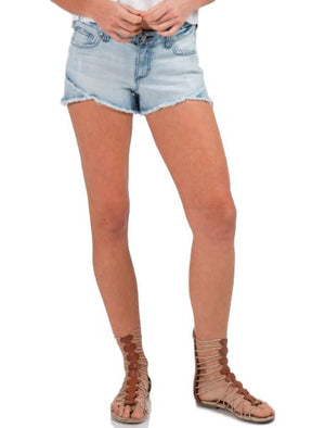Overlap Denim Shorts