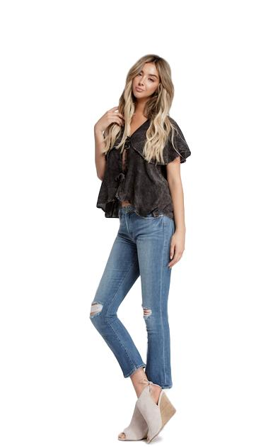 Kate Double Tie Cape Top