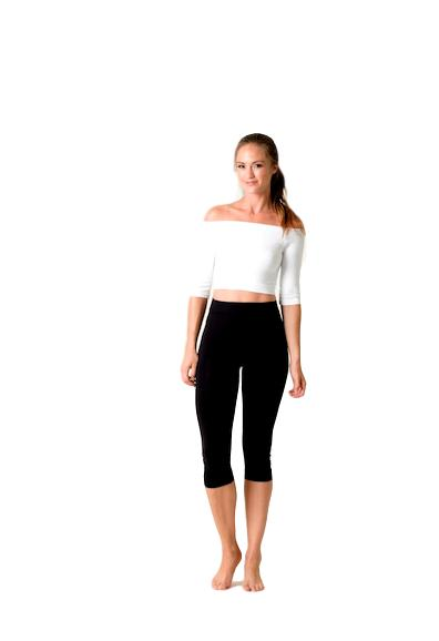 Heidi Half Sleeve Crop Top