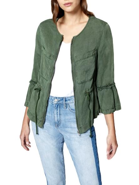 Military Frill Peplum Jacket