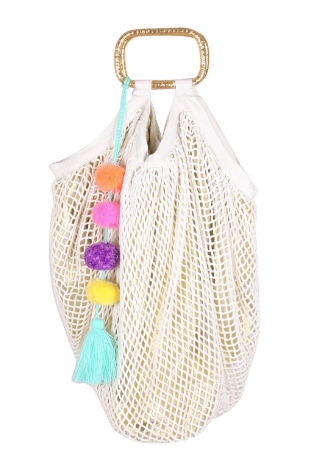 Snow White Fish Net Bag