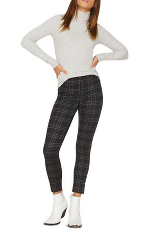 Plaid Seamed Crop Legging