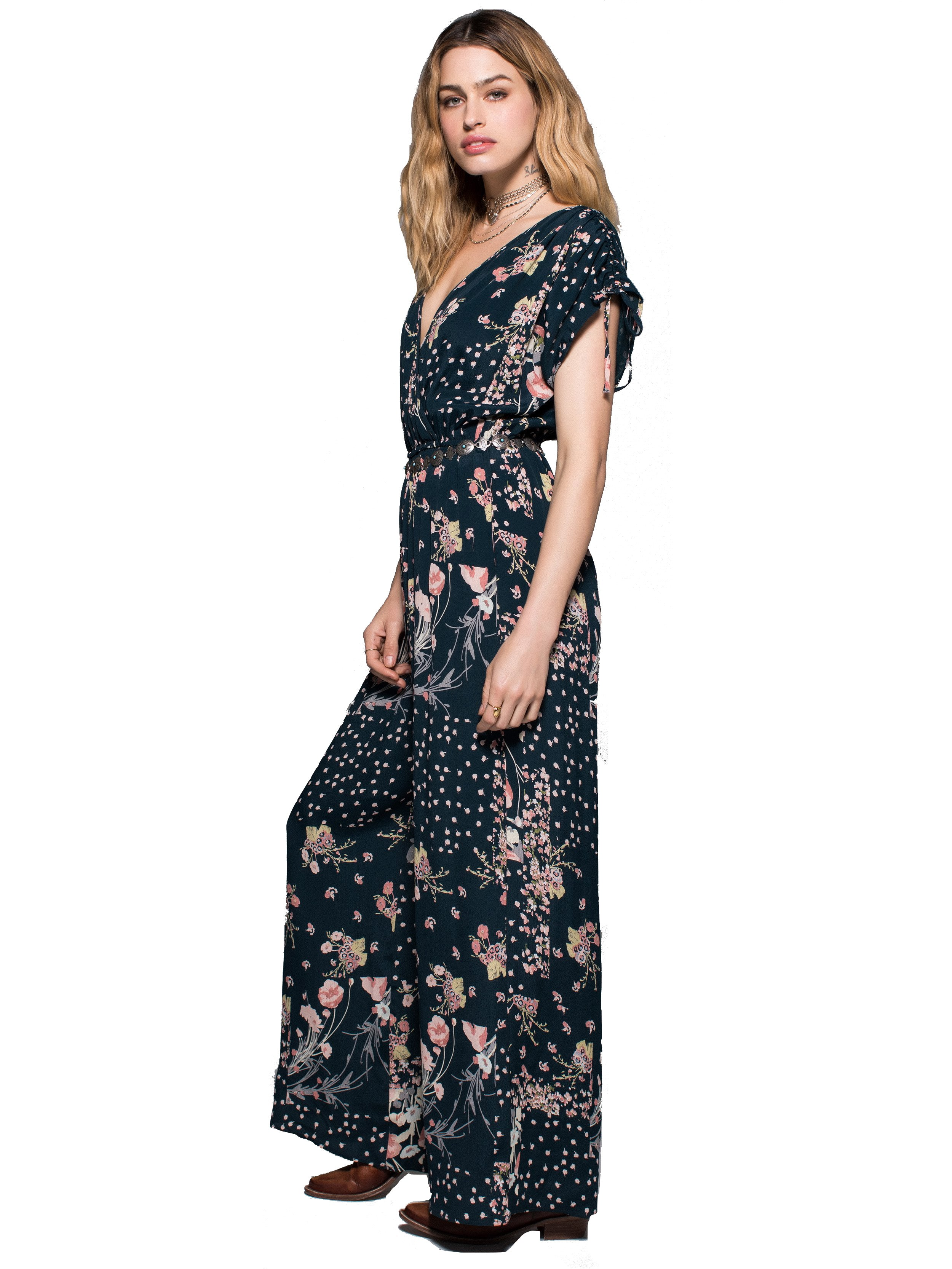 Moody Floral Jumpsuit