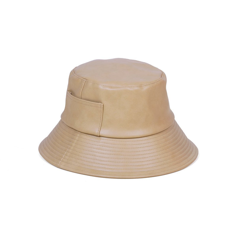 Leather Wave Bucket Hat