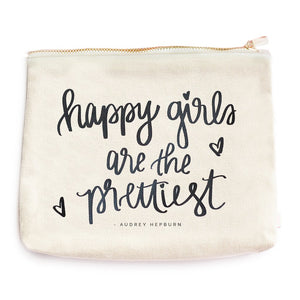 Sweet Water Decor - Happy Girls Are The Prettiest Makeup Bag