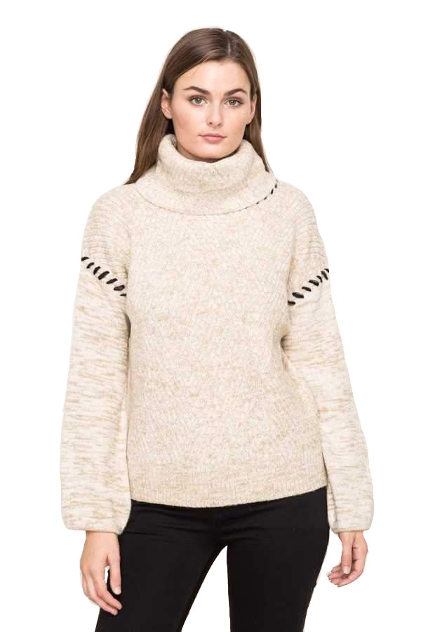 Tunnel Neck Boxy Sweater