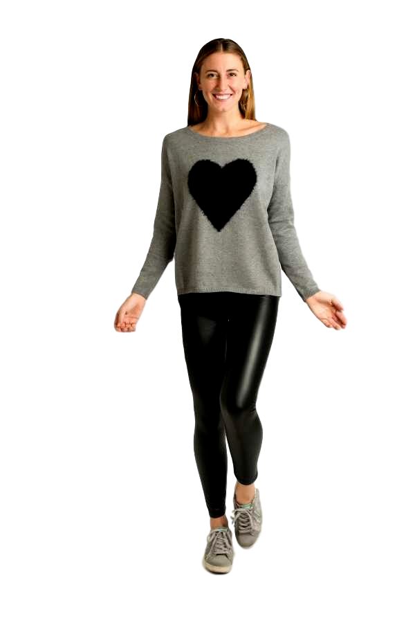 Dark Grey Ladies Knitted Sweater