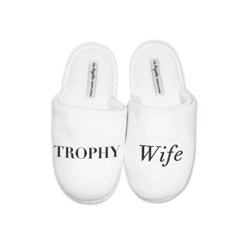 LA Trading Co - White Slippers-Trophy Wife