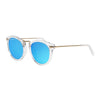 Crystal Blue Mirror Sunglasses