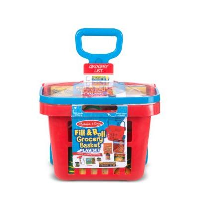 Rolling Grocery Basket ( Fill & Roll Grocery Basket Play Set)