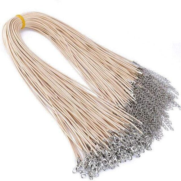20 Pieces of Beige Cream Genuine Leather Necklace Cord Rope Chains for Jewellery Making Pendants
