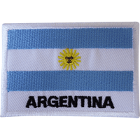 Argentina Flag Iron On Patch Sew On T Shirt Bag South America Embroidered Badge