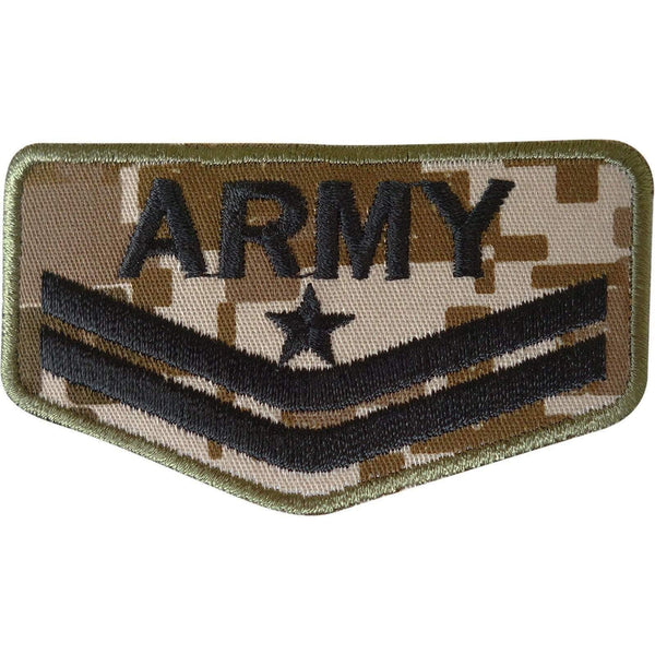 Army Patch Embroidered Badge Iron Sew On Bag Soldier Uniform Fancy Dress Costume