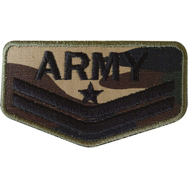 Army Soldier Military Patch Embroidered Badge Iron On Sew On Uniform Fancy Dress