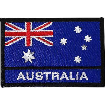 Australia Flag Embroidered Iron / Sew On Patch Australian Hat T Shirt Bag Badge