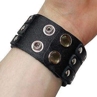 Black Leather Stud Bracelet Wristband Bangle Mens Womens Ladies Girls Boys Kids Black Leather Stud Bracelet Wristband Bangle Mens Womens Ladies Girls Boys Kids