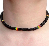 Black Rasta Surfer Necklace Chain Choker Mens Ladies Boys Girls Childs Jewellery