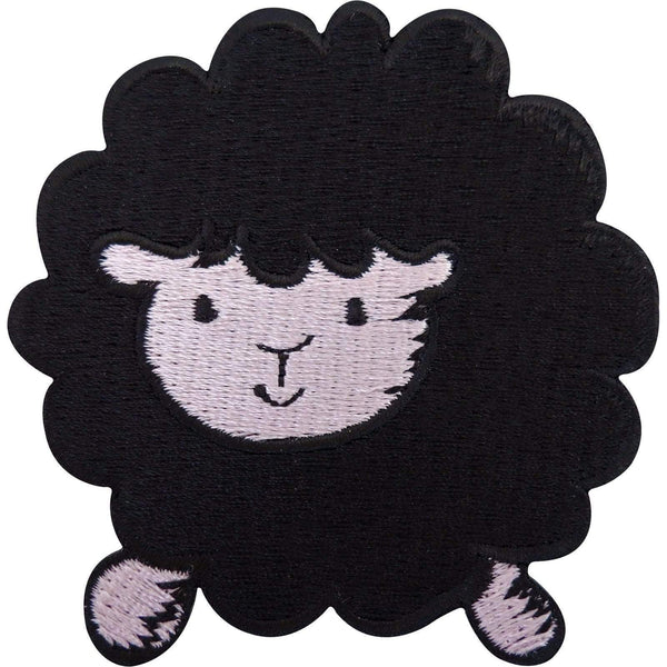 Black Sheep Patch Embroidered Badge Iron On Sew On Clothing Jacket Bag Jeans Hat