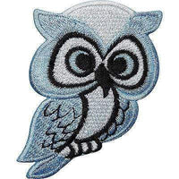 Blue Owl Embroidered Iron / Sew On Patch Bag Jacket T Shirt Jeans Badge Transfer