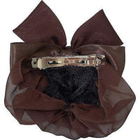 Brown Hair Bow Bun Net Barrette Clip Grip Clasp Clamp Satin Ribbon Lace Snood Brown Hair Bow Bun Net Barrette Clip Grip Clasp Clamp Satin Ribbon Lace Snood