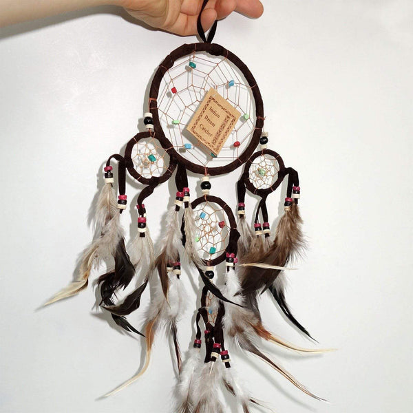 Brown Indian Dreamcatcher Childrens Kids Bedroom Decoration Small Dream Catcher