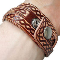 Brown Leather Surfer Bracelet Urban Fashion Wristband Bangle Mans Boy Woman Lady