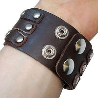 Brown Leather Surfer Tribal Bracelet Wristband Bangle Mens Womens Kid Girls Boys