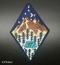 Camp Life Iron On Patch Sew On Patch Embroidered Badge Embroidery Applique Outdoor Camping Hiking Theme