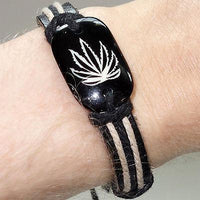 Cannabis Leaf Bracelet Wristband Bangle Mans Womens Ladies Mens Hippie Hippy Cannabis Leaf Bracelet Wristband Bangle Mans Womens Ladies Mens Hippie Hippy