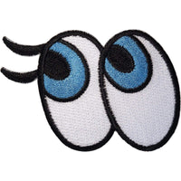 Cartoon Eyes Patch Iron Sew On Clothes Bag Embroidery Applique Embroidered Badge