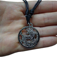 Chinese Dragon Pendant Chain Necklace Silver Tone For Men Women Girls Boys Kids
