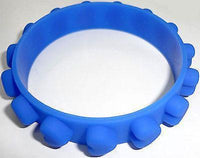 Dark Blue Heart Rubber Silicone Bracelet Wristband Bangle Ladies Womens Jewelry