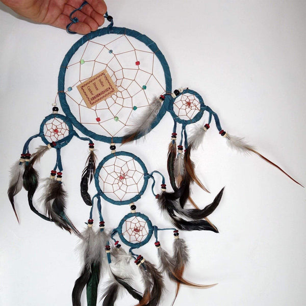 Dark Turquoise Handmade Dreamcatcher Medium Kids Bedroom Decor Dream Catcher Toy