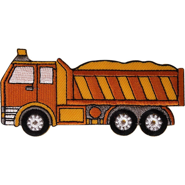 Dump Truck Patch Embroidered Badge Iron Sew On Tipper Lorry Embroidery Applique