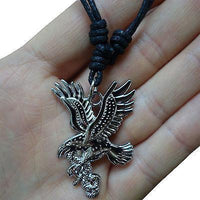 Eagle Pendant Chain Necklace Choker Mens Womens Boys Girls Jewellery Silver Tone Eagle Pendant Chain Necklace Choker Mens Womens Boys Girls Jewellery Silver Tone