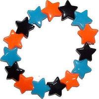 Elastic Black Orange Blue Stars Bracelet Wristband Bangle Girls Kids Jewellery