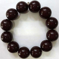Elastic Dark Brown Bead Bracelet Wristband Bangle Womens Ladies Girls Jewellery