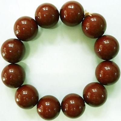 Elastic Light Brown Bead Bracelet Wristband Bangle Womens Ladies Girls Jewellery