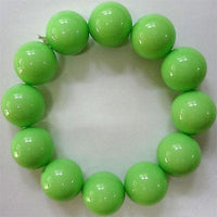 Elasticated Green Beads Bracelet Wristband Bangle Womens Ladies Girls Jewellery