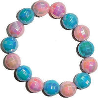 Elasticated Pink Blue Shamballa Bracelet Wristband Bangle Kids Girls Jewellery