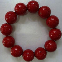 Elasticated Red Beaded Bracelet Wristband Bangle Womens Ladies Girls Jewellery