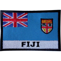 Embroidered Fiji Flag Patch Sew On Cloth Jacket Jeans Bag Shirt Embroidery Badge