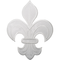 Fleur De Lis Iron On Patch Sew On Badge France Coat Of Arms French Flower Lily