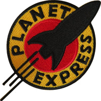 Futurama Planet Express Iron On Sew On Embroidered Patch T Shirt Bag Jeans Badge